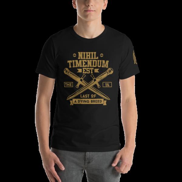 Nihil Timendum Est - Fear Nothing T-Shirt (Front Mockup)
