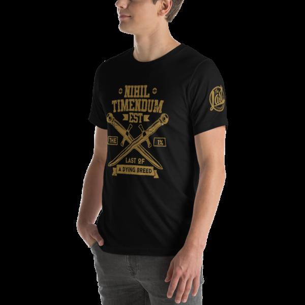 Nihil Timendum Est - Fear Nothing T-Shirt (Front-Side Mockup)